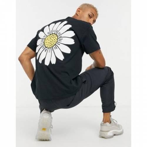 クラブ Tシャツ 黒 ブラック メンズファッション トップス カットソー 【 BLACK NEW LOVE CLUB SUNFLOWER PRINT TSHIRT IN 】