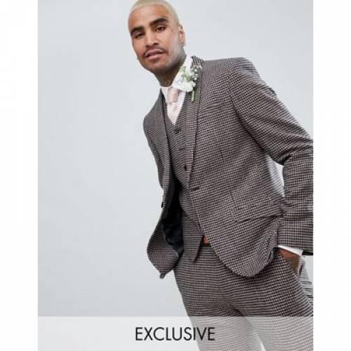 & メンズファッション コート ジャケット 【 HEART DAGGER SKINNY WEDDING SUIT JACKET IN DOGSTOOTH 】 ※セットアップではありません