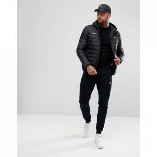パッド 黒 ブラック メンズファッション コート ジャケット 【 PADDED BLACK ELLESSE LOMBARDY JACKET IN 】