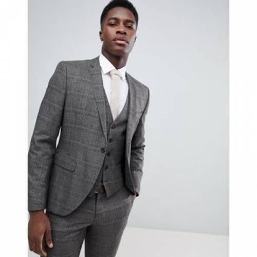 メンズファッション スーツ セットアップ 【 SELECTED HOMME SKINNY SUIT JACKET IN CHECK 】 ※セットアップではありません