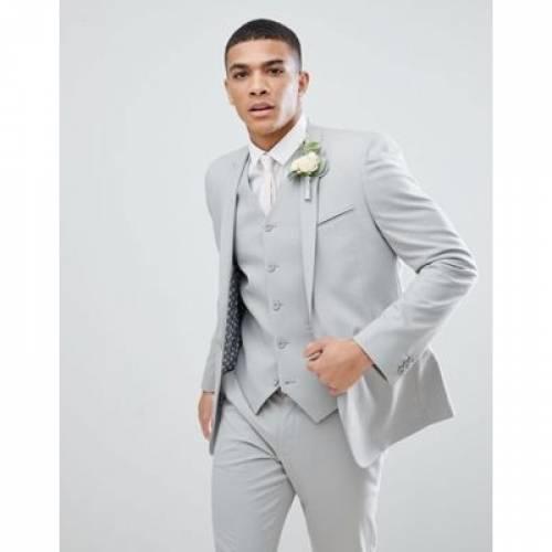 GRAY灰色 グレイ メンズファッション コート ジャケット 【 GREY ASOS DESIGN SKINNY SUIT JACKET IN ICE 】 ※セットアップではありません