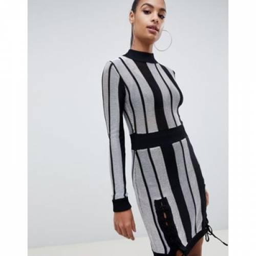 ドレス レディースファッション ワンピース 【 MISSGUIDED STRIPED BODYCON DRESS 】