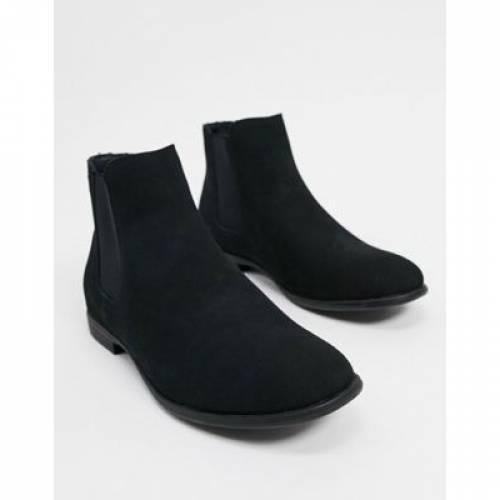 スエード スウェード ブーツ 黒 ブラック & メンズ 【 BLACK JACK JONES FAUX SUEDE CHELSEA BOOT IN 】