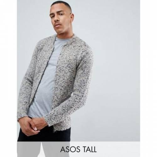 メンズファッション コート ジャケット 【 ASOS DESIGN TALL HEAVYWEIGHT TEXTURED BOMBER JACKET IN OATMEAL 】