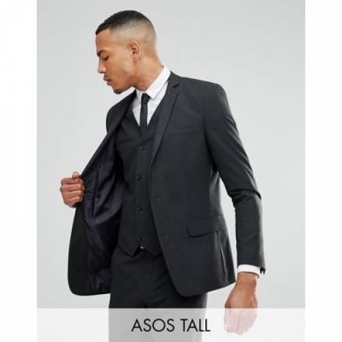 スリム チャコール メンズファッション スーツ セットアップ 【 SLIM ASOS TALL SUIT JACKET IN CHARCOAL 】 ※セットアップではありません