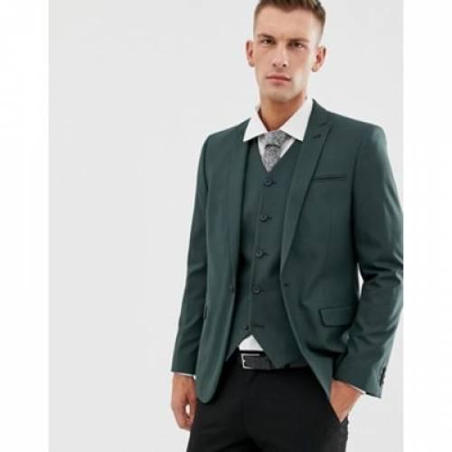 フォレスト 緑 グリーン メンズファッション スーツ セットアップ 【 GREEN ASOS DESIGN SKINNY SUIT JACKET IN FOREST 】 ※セットアップではありません