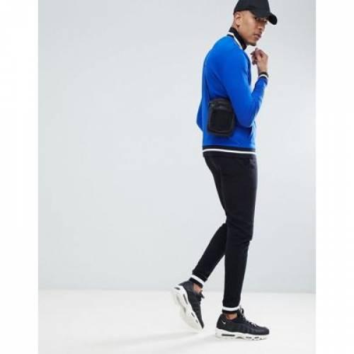 ジャージ トラック 青 ブルー メンズファッション コート ジャケット 【 BLUE ASOS DESIGN TALL ORGANIC JERSEY TRACK JACKET IN BRIGHT WITH CONTRAST TIPPING 】