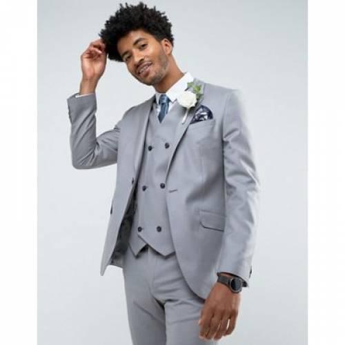スリム ミッド GRAY灰色 グレイ 100% メンズファッション スーツ セットアップ 【 SLIM GREY ASOS SUIT JACKET IN WOOL MID 】 ※セットアップではありません