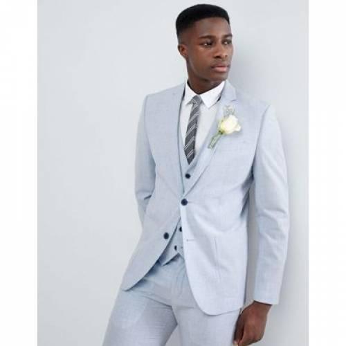 メンズファッション スーツ セットアップ 【 FARAH SKINNY WEDDING SUIT JACKET IN CROSS HATCH 】 ※セットアップではありません