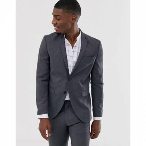 プレミアム スリム GRAY灰色 グレイ & メンズファッション コート ジャケット 【 PREMIUM SLIM GREY JACK JONES SUPER FIT STRETCH SUIT JACKET IN 】 ※セットアップではありません