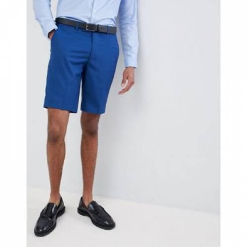 ショーツ ハーフパンツ 青 ブルー メンズファッション スーツ セットアップ 【 BLUE FARAH SKINNY WEDDING SUIT SHORTS IN 】