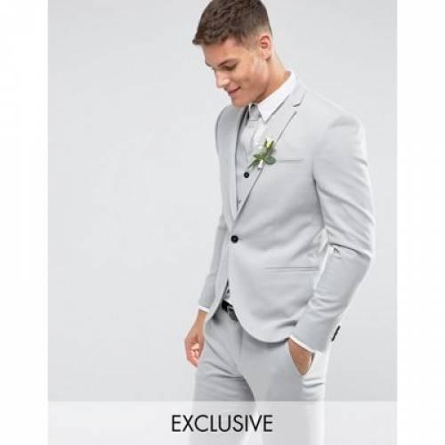 GRAY灰色 グレイ メンズファッション スーツ セットアップ 【 GREY NOAK SKINNY WEDDING SUIT JACKET IN PALE 】 ※セットアップではありません