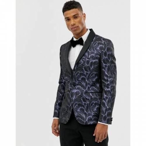 ブレーザー ブレイザー メンズファッション コート ジャケット 【 MOSS LONDON SKINNY BLAZER IN FEATHER JACQUARD 】