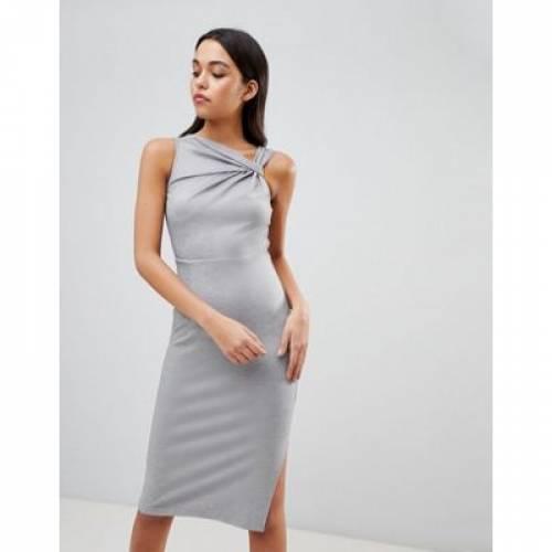 ドレス レディースファッション ワンピース 【 ASOS DESIGN TWIST DETAIL PENCIL DRESS 】