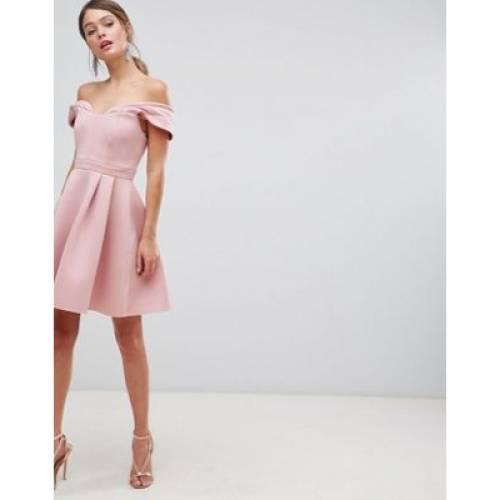 ドレス レディースファッション ワンピース 【 ASOS DESIGN BARDOT COLD SHOULDER MINI PROM DRESS 】