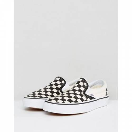 バンズ クラシック 【 VANS CLASSIC SLIP ON TRAINERS IN CHECKERBOARD 】
