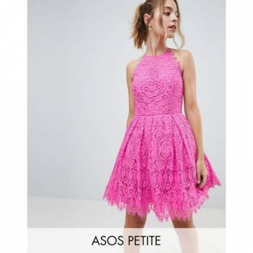【海外限定】ドレス レディースファッション ワンピース 【 ASOS DESIGN PETITE PINNY PROM MINI DRESS IN LACE 】