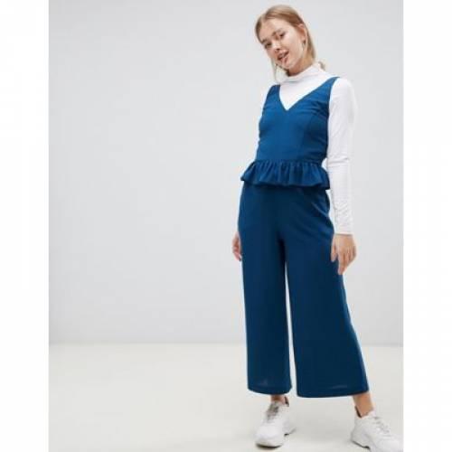 レディースファッション オールインワン サロペット 【 ASOS DESIGN FRILL HEM CAMI JUMPSUIT 】