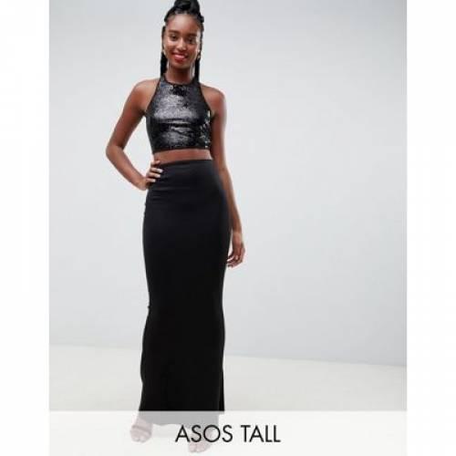 ドレス レディースファッション ワンピース 【 ASOS DESIGN TALL SEQUIN TOP MAXI DRESS 】