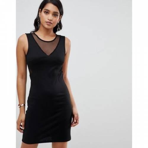 ドレス レディースファッション ワンピース 【 YAS SASSY BODYCON MINI DRESS WITH MESH PANELS 】