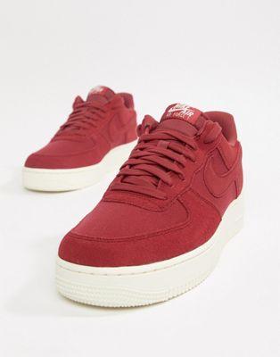 【海外限定】ナイキ エアー スエード スウェード 赤 レッド '07 スニーカー メンズ靴 【 NIKE AIR RED FORCE 1 SUEDE TRAINERS IN AO3835600 】