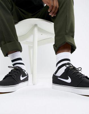 【海外限定】ナイキ エスビー ズーム 黒 ブラック メンズ靴 スニーカー 【 NIKE SB ZOOM BLACK STEFAN JANOSKI SKATEBOARDING TRAINERS IN 615957028 】