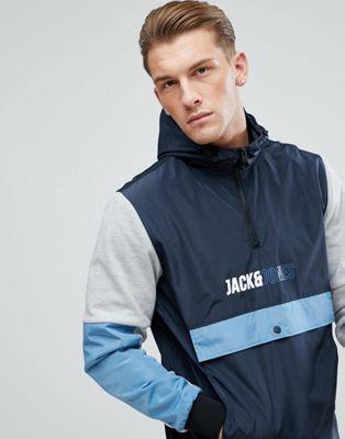 【海外限定】コア & メンズファッション トレーナー 【 JACK JONES CORE OVER HEAD ANORAK 】