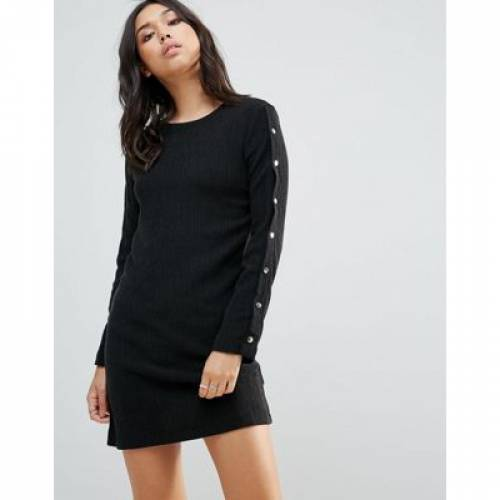 ドレス レディースファッション ワンピース 【 TWIIN APART SNAP BUTTON DRESS 】