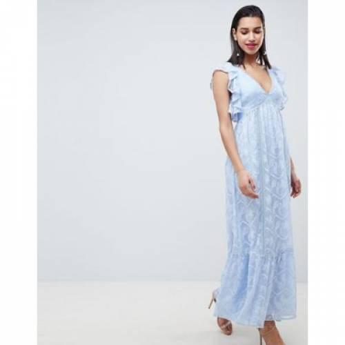 ドレス レディースファッション ワンピース 【 FOREVER NEW EMBROIDERED MAXI DRESS WITH RUFFLE DETAIL 】