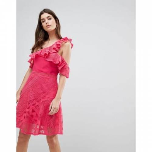 ドレス レディースファッション ワンピース 【 THREE FLOOR ONE SHOULDER FRILL LACE DRESS 】