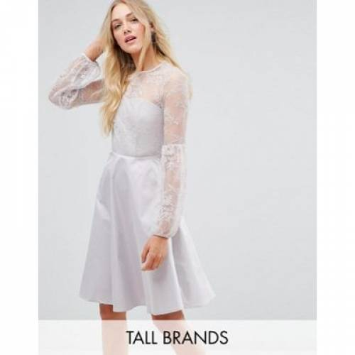 スリーブ ドレス 銀色 シルバー Y.A.S レディースファッション ワンピース 【 SLEEVE SILVER TALL BALLOON MINI DRESS IN 】