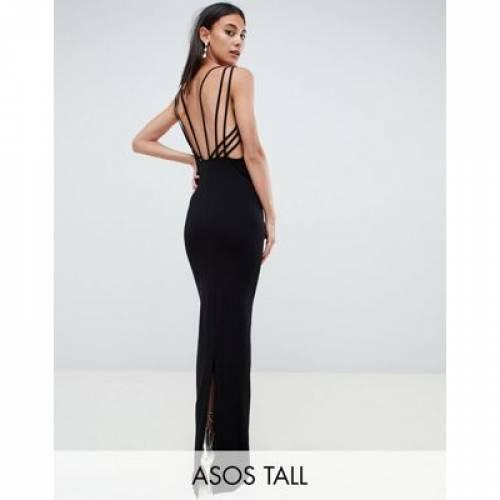 ドレス レディースファッション ワンピース 【 ASOS DESIGN TALL CAGE BACK MAXI DRESS 】