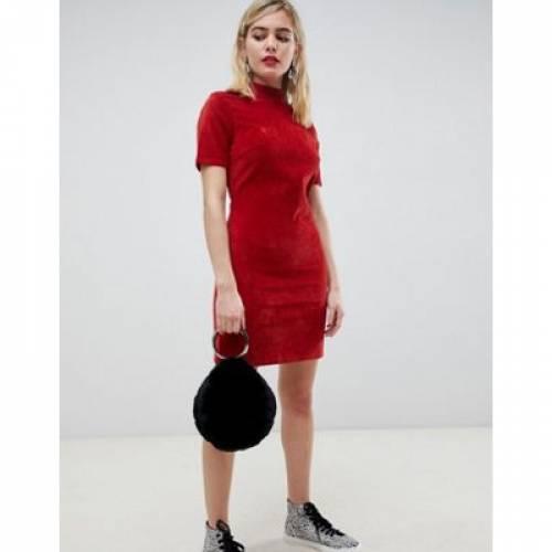 ドレス レディースファッション ワンピース 【 ASOS DESIGN CORD MINI DRESS IN RUST 】