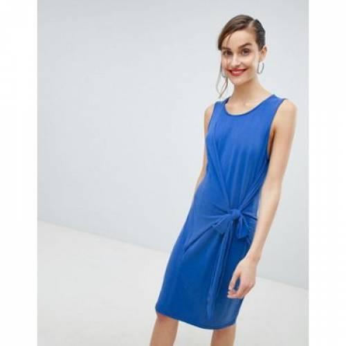ドレス 青 ブルー レディースファッション ワンピース 【 BLUE SELECTED FEMME TIE WAIST MINI DRESS IN 】