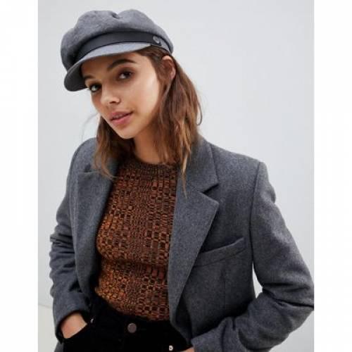 GRAY灰色 グレイ バッグ キャップ 帽子 レディースキャップ 【 GREY BRIXTON COTTON BAKER BOY HAT 】