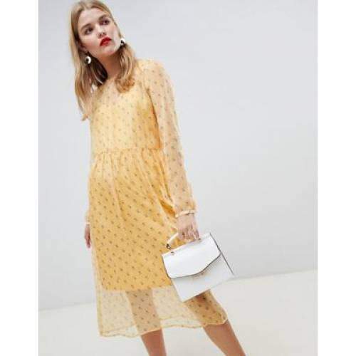 ドレス 黄色 イエロー レディースファッション ワンピース 【 YELLOW PIECES DITSY FLORAL MINI DRESS IN 】