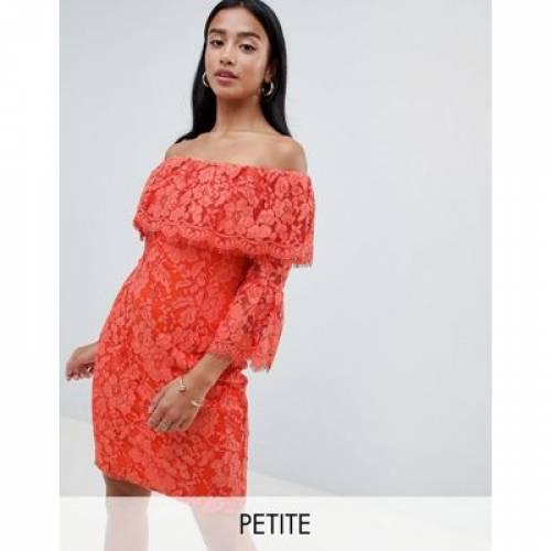 ドレス レディースファッション ワンピース 【 PAPER DOLLS PETITE OFF SHOULDER RUFFLE DETAIL PENCIL DRESS 】
