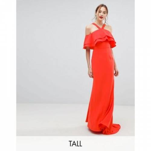 ドレス レディースファッション ワンピース 【 JARLO TALL OVERSIZED RUFFLE FRONT MAXI DRESS 】