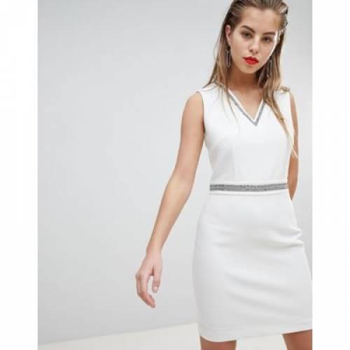 【海外限定】ドレス レディースファッション ワンピース 【 MORGAN EMBELLISHED DETAIL PLUNGE MINI DRESS 】