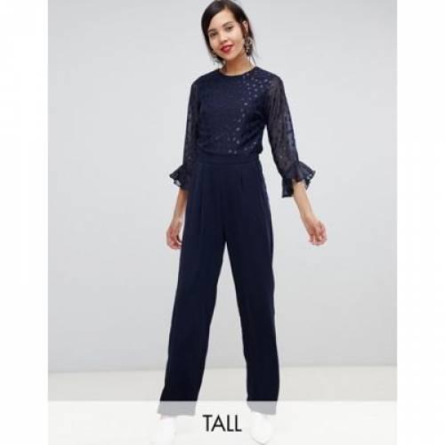 Y.A.S レディースファッション オールインワン サロペット 【 TALL SHEER DOT JUMPSUIT 】