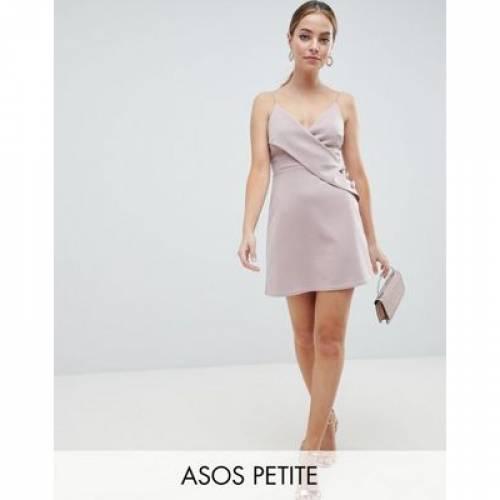 【海外限定】ラップ ドレス レディースファッション ワンピース 【 WRAP ASOS DESIGN PETITE CAMI BUTTON MINI SHIFT DRESS 】