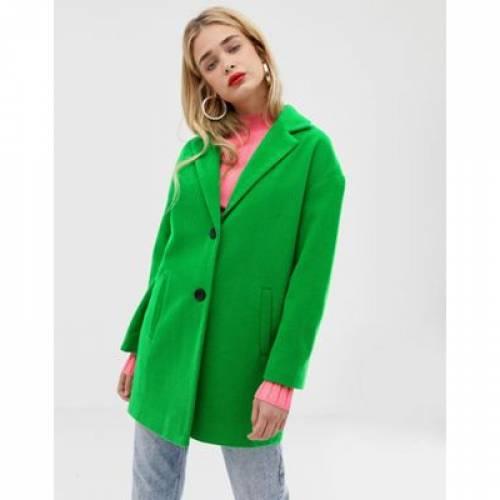 緑 グリーン 【 GREEN STRADIVARIUS SINGLE BREASTED COAT IN 】