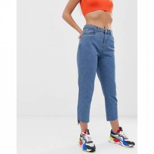 【海外限定】青 ブルー レディースファッション ボトムス パンツ 【 BLUE NOISY MAY STRAIGHT LEG JEAN IN 】