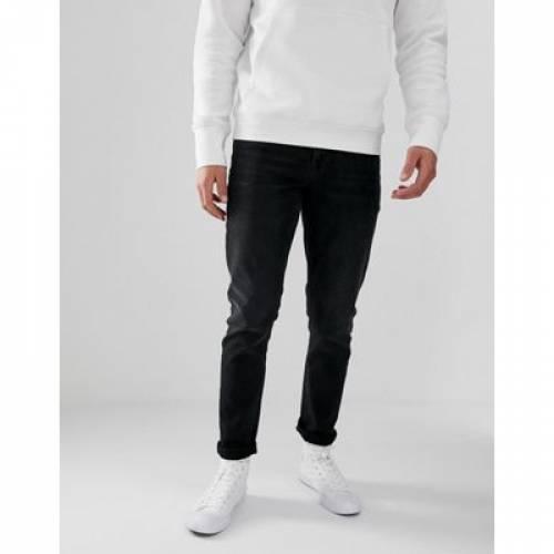 スリム 黒 ブラック メンズファッション ズボン パンツ 【 SLIM BLACK ASOS DESIGN JEANS IN WASHED 】