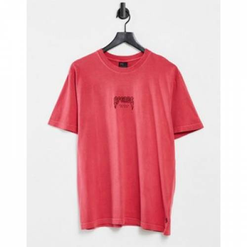 AFENDS Tシャツ 赤 レッド メンズ 【 RED AFENDS RECYCLED TSHIRT IN 】