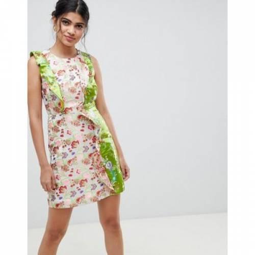 ドレス レディースファッション ワンピース 【 ASOS DESIGN MINI DRESS IN MIXED JACQUARD 】