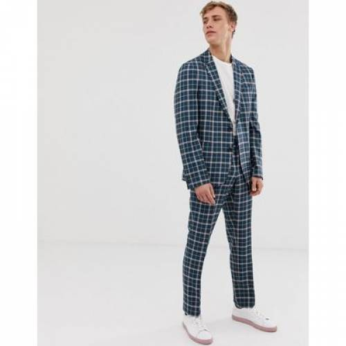 スリム メンズファッション コート ジャケット 【 SLIM NOAK SB2 NOTCH SUIT JACKET IN CHECK 】 ※セットアップではありません
