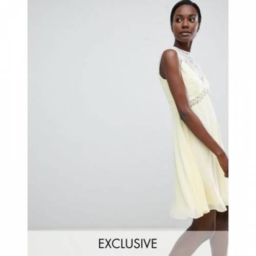 【海外限定】ドレス レディースファッション ワンピース 【 ELISE RYAN SWEETHEART SKATER DRESS WITH EMBELLISHED WAIST 】