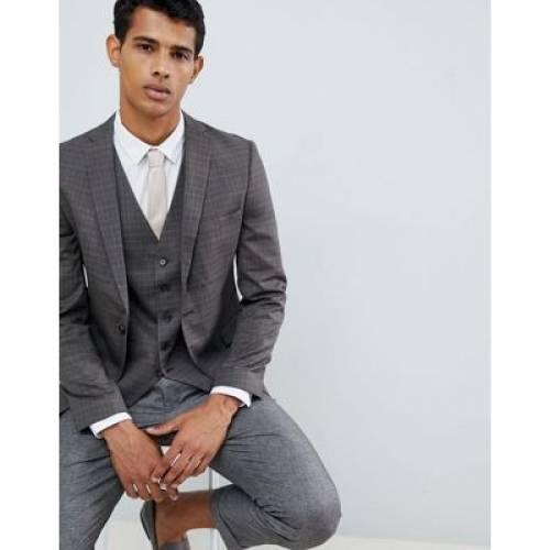 メンズファッション コート ジャケット 【 SELECTED HOMME SKINNY SUIT JACKET IN CHECK 】 ※セットアップではありません