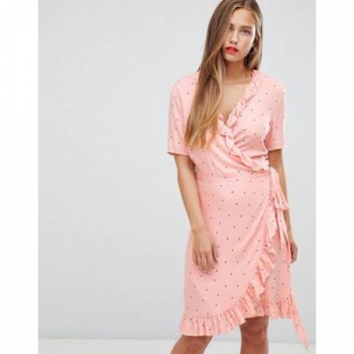 ラップ ドレス レディースファッション ワンピース 【 WRAP JDY FELICIA POLKA DOT DRESS 】